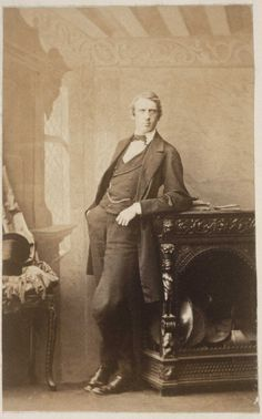 Virginia's Woolf's father, Leslie Stephen, photographed by Camille Silvy in 1860