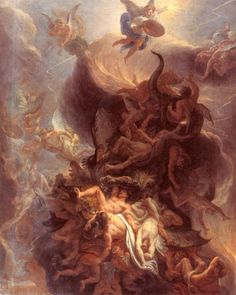 The Fall of the RebelAngels  Charles le Brun,1680; Musée des Beaux-Arts, Dijon.