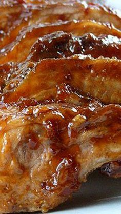 Barbecued Baby Back Ribs with Two Sauce Recipes ~  Cherry Chipotle Barbecue Sauce and Bourbon Maple Barbecue Sauce...  Two different sauces; both make for amazing barbecue ribs