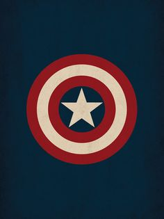 "Marvel Comic Store Superheroes Minimalist ""Captain America"" Art Poster - Retro Style Home Decor Wall Art DC Universe"