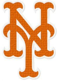 New York Mets logo machine embroidery design $2 embroideres.com