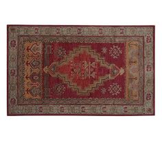 Arlington Persian-Style Wool Rug, 3x5', Red