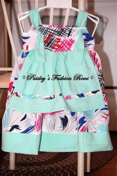 Colorful apron knot dress