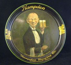 vintage beer trays | ... handsome waiter in breweriana beer trays show tell beer…