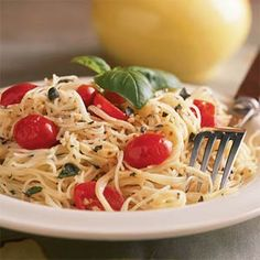 Pasta with Herbed Goat Cheese and Cherry Tomatoes | MyRecipes.com #MyPlate #grain #vegetable