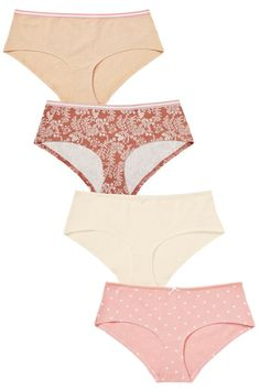 327be0c6d73 Buy Floral Print Short Cotton Knickers Four Pack from the Next UK online  shop