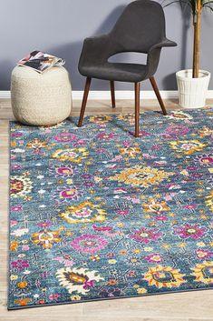 Babylon 210 Blue Rug - Online Only - Matt Blatt Floor Rugs, Rugs On Carpet, Eclectic, Blue Rug, Eclectic Rugs, Rugs, Modern Rectangle, Area Carpet, Rugs Online