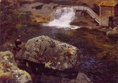 Hans Gude (Norwegian 1825–1903) [Norwegian romantic nationalism] En Mølledam, 1850. National Gallery of Norway, Oslo.