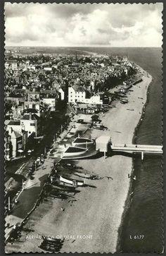 Deal (aerial view of Front) - Kent - Old RP Postcard - Ref Kent Coast, East Sussex, Aerial View, Great Britain, Alice In Wonderland, Wales, Scotland, Ireland, Memories