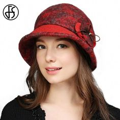 d38e85eb46aba Autumn Winter Fedora Hats For Women Retro Wool Felt Bowler Wide Brim Fashion  Bucket Hat