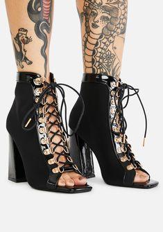 Pink Heels, Lace Up Heels, Black Heels, Fancy Shoes, Crazy Shoes, Me Too Shoes, Mid Heel Shoes, Peep Toe Heels, Open Toe Boots