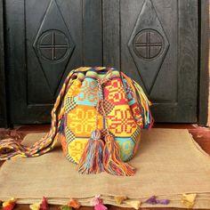 Wayuu Mochila / Hand-Woven in Colombia / Indigenous Bag by CasaLunaCo on Etsy