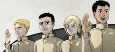 Annie | Porco Galliard | Marcel (Berwick) | Reiner | Bertholdt | Shingeki no Kyojin |  Attack on titan | SNK | Marley