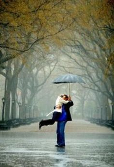Dancing in the rain. Central Park, NY