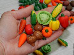 Polymer clay vegetable for doll /  овощи из полимерной глины - овощи, фрукты, полимерная глина, игрушка, кукла, еда для кукол