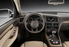 As you would expect from the Audi Q5, the interior is of a very high quality and includes options such as a Milti-Media Interface linked to a 6.5-inch colour screen.    Find out more about the new Audi Q5 here: http://www.m25audi.co.uk/audi/q5/new-q5.html