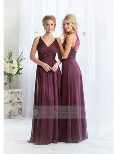 A-line Sleeveless Pleated Lace Straps Crossed Back Floor-Length Bridesmaid Dress Black Friday Sale