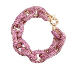 """Large pave links create a stunning but also everyday wear piece.Ê One of our favorite pieces!Ê New lower price! 8.5"""" length Pave stones and 18K Gold Plating Spring clasp Imported"""