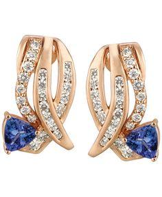 Le Vian Tanzanite (3/4 ct. t.w.) and Diamond (3/4 ct. t.w.) Earrings in 14k Rose Gold