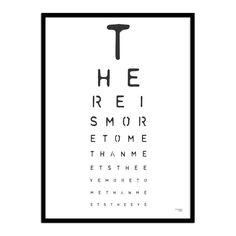Optician eye letter print