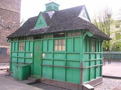 There exist in London 13 cabmen's shelters - green, garden-shed like buildings often smelling of bacon and surrounded by 'black' cabs. They were provided by the Cabmen's Shelter Fund, a charity set up under the Earl of Shaftesbury and others in 1874 with the object of providing places where cabmen could obtain 'good and wholesome refreshments at moderate prices'. By this provision it hoped to keep the cabbies out of the pubs !