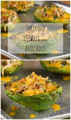 Shredded Chicken Avocados: It's a quick and nutritious meal-in-one packed with chicken, salsa, and of course we threw in some cilantro! It's a healthy snack, side, or entree.