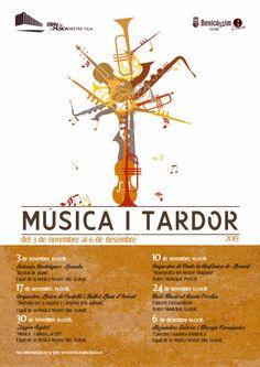 """Cartel para """"Música i Tardor"""". Benicàssim.2013"""