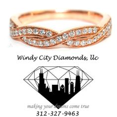 This is a Beautiful 14 KT Rose Gold Diamond Wedding band . Set with 37 rounds diamonds for a total of 0.26 Carat Weight for only $ 700 ! at Windy City Diamonds # W074915  @windycitydiamonds #rosegold #gold #weddingband #band #14kt !#diamonds #windycitydiamonds