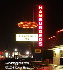 Miner Dunn Restaurant, Highland, IN Great burgers and every meal gets orange sherbert at the end for dessert.