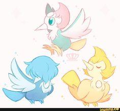 stevenuniverse, pokemon, pikipek, pearl