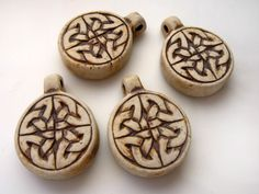 10 Highfired Celtic Knot Pendants by TheCraftyBead on Etsy