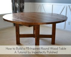 Round Wood Table Tutorial From Imperfectly Polished