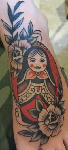 Stizzo - Tattoo Artist in Milan | Russian doll tattoo #Stizzo #russiandolltattoo