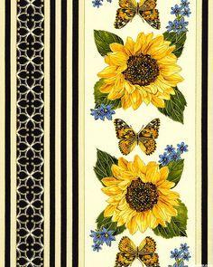 Forever Sunflowers - Sunshine Garden Stripe - Quilt Fabrics from www.eQuilter.com