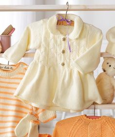 Free knitting pattern for this Baby Jacket