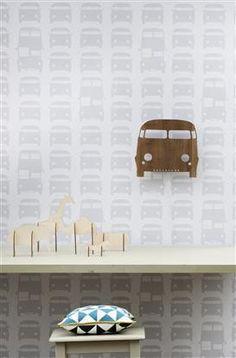 Ferm Living Rush Hour Grey Kids Wallpaper by Ferm Living Ferm Living Wallpaper, Grey Wallpaper, Kids Wallpaper, Nursery Wallpaper, Grey Childrens Wallpaper, Modern Wallpaper Designs, Kids Lamps, Luminaire Led, Decoration Originale
