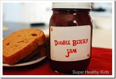 We had our super-easy- poor-man's homemade jam, and now we have our real berry, thick, no sugar added homemade jam.  This jam isn't exactly cheap to m