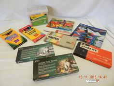 ARTISTS CHALKS! MIXED LOT-9! VARIOUS MAKERS! VARIOUS VINTAGE! ALL USED! AS IS! #VARIOUS