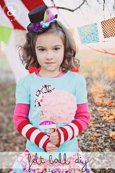 DIY: How to Make Felt Poms- Evie hold this for fake cotton candy