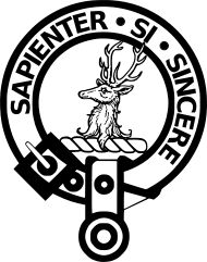 "Clan Davidson crest badge - ""Sapienter si sincere"", translated as ""Wisely if sincerely"""