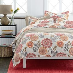 Felicity Wrinkle-Free Sateen Sheets & Bedding Set | The Company Store  (for curtains?)