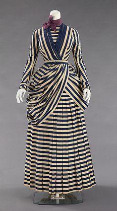 7ca8dea3f5 Haute Couture Victorian fashion dress gown American 1885-1888.  Historical   Costume made
