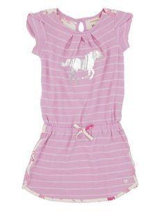 Pink Zinc Stripe Girls' Petal Sleeve Dress from Hatley ❤️ Petal Sleeve, Kids Pajamas, Pink Dress, Kids Outfits, Girls Dresses, Dressing, Stripes, Dresses With Sleeves, Rompers