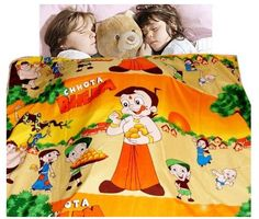 Let the #children sleep with their #favorite #cartoon #character Choota Bheem!!!  Buy this Chhota Bheem Dohar/AC Comforter only @ Rs. 899. And also get free home delivery.