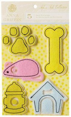 Scrapbooking for Less - Anna Griffin Felt 3D Stickers - Fifi and Fido