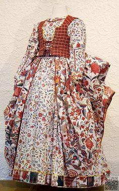 31. #18ème siècle #hollandais robe influencée par ces #tissus Indiens, que je l'ai #mentionné - Chintz - un #modèle parfait ? Vous #décidez ! ... → #Lifestyle