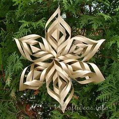 Christmas Paper Craft - Christmas Star Window Decoration  http://www.sun-gazing.com/make-intricate-lacy-paper-snowflake-holidays/
