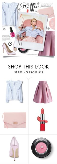 """Pretty Lady in Pink"" by elisabetta-negro ❤ liked on Polyvore featuring Chicwish, Ted Baker, Avon, ALDO and Lancôme"