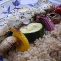 Lemon Herb Fish Kebabs