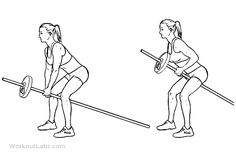 Bent Over Two-Arm Long Barbell / T-Bar Rows